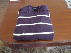 Navy Striped Summer Sweater