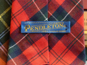 Pnedleton label on the back of tie