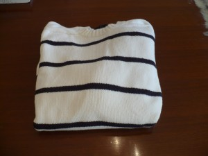 White Striped Summer Sweater