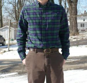 Lands' End flannel shirt