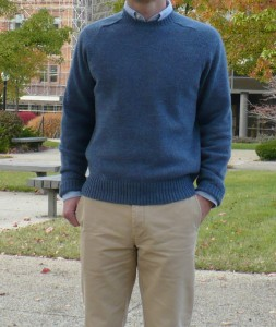 BB hetland sweater outside