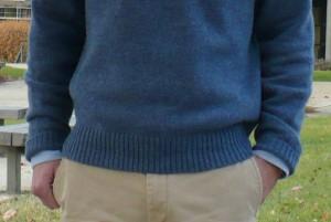 Shetland sweater waist