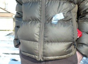 patagonia  jacket with rip