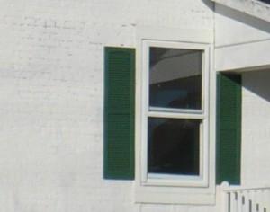 white brick house close-up