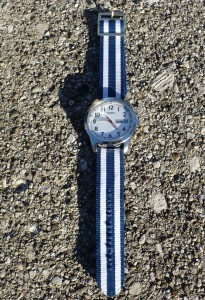 Navy and White watchband