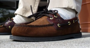 Sperry Top-Sider with chinos