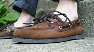 Boat shoes sans socks