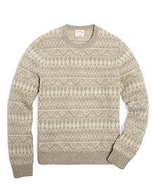 Shetland Tonal Fair Isle Crewneck Sweater