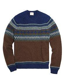 Shetland Yoke Crewneck Sweater