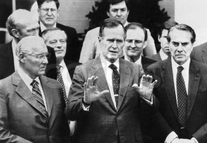 President Bush and Colleagues 1990