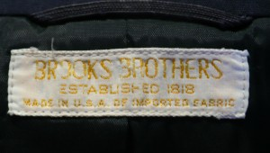 Brooks Brothers Poplin Blazer Label