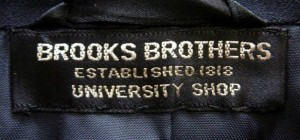 Brooks Brothers University Shop Clothing Label