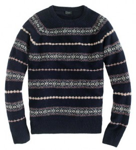 Glenco Fair Isle Sweater in Deep Navy