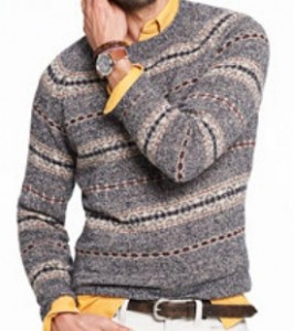 Glenco Fair Isle Sweater in Heathered Sand
