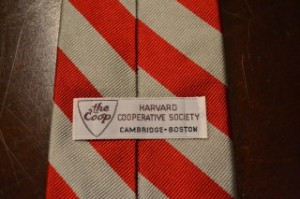 Harvard Cooperative Society Tie Label