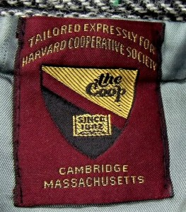 Harvard Cooperative Society Tag