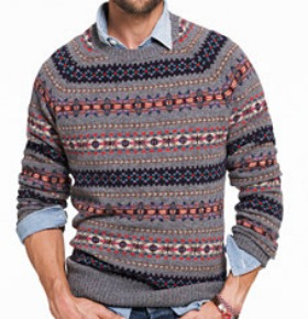 Iverness Fair Isle Sweater in Heathered Metal