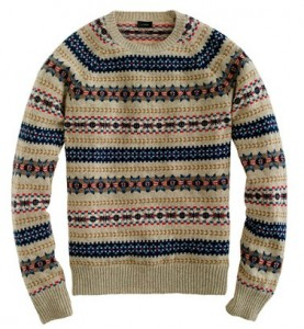 Iverness Fair Isle Sweater in Heathered Sand