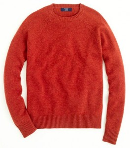 J.Crew Factory Store Lambswool Sweater in Heathered Paprika