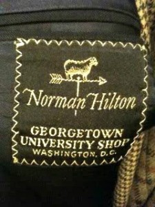 Norman Hilton Georgetown University Shop Label