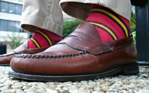 Rugby Red and Yellow Repp Striped Socks