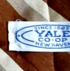Yale Co-op tie Label