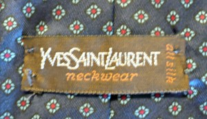 Yves Saint Laurent Tie Label