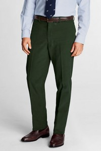 Lands' End18-Wale Corduroy trousers Evergreen Forest