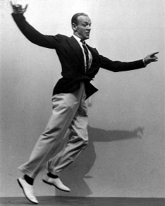 Fred Astaire Jumping in Loose Fitting Trousers