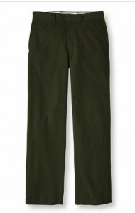 L.L. Bean Dress Cords in Loden