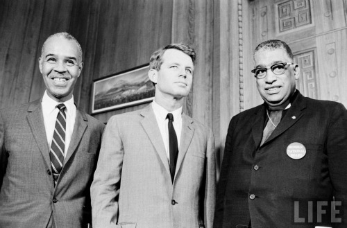 Bobby Kennedy and Roy Wilkins