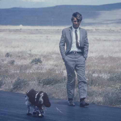 Bobby Kennedy and dog