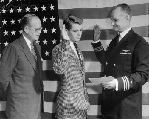 Robert F. Kennedy Being Sworn in to Naval Academy at 17 1943