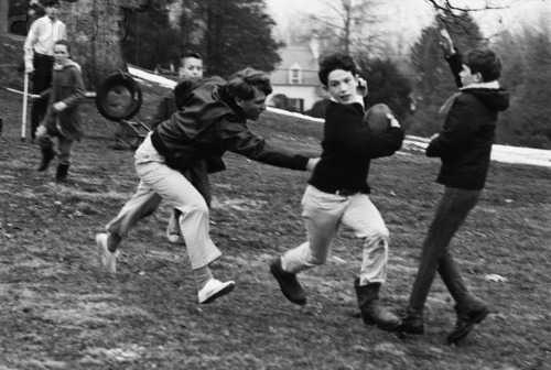 Robert F. Kennedy Playing Football with Children 1966