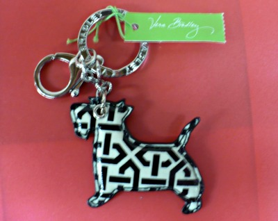 Vera Bradley Scotty Dog Keychain