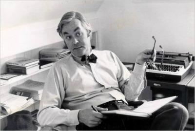 Daniel Patrick Moynihan by Typewriter