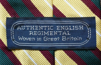 Authentic English Regimental