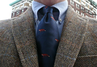 J.Press Tie with Southwick Tweed