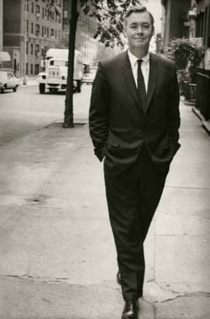 Young Moynihan on the street
