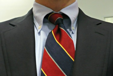 Lands End Repp Tie
