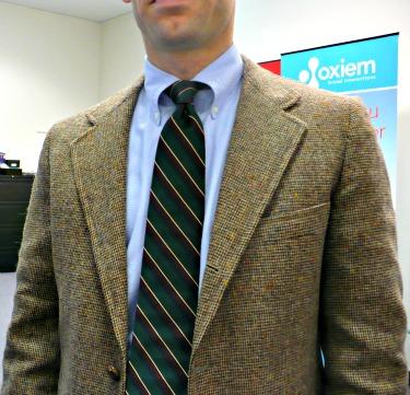 Tweed Sack & Repp Tie