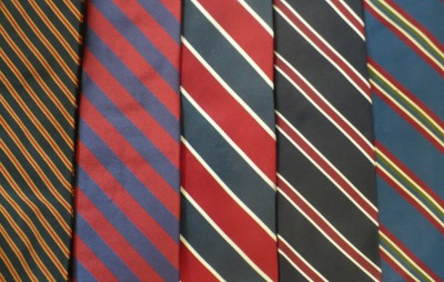 Tie Collection Blue Close-up