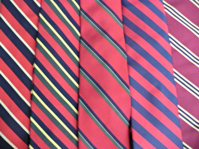 Tie Collection Red Stripes Close-up