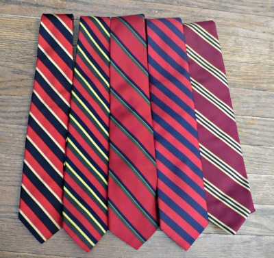 Red Striped Ties