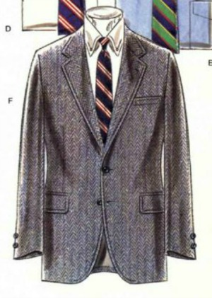 Fall 1981 Grey Herringbone Sport Coat