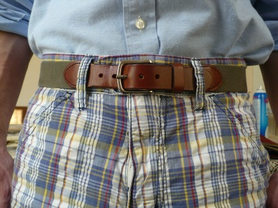 Madras shorts & Belt