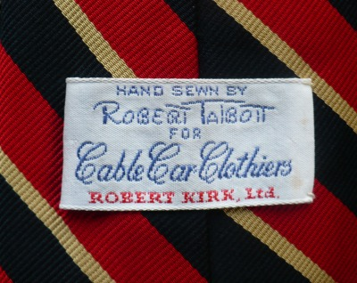 Robert Talbott For Cable Car Clothiers