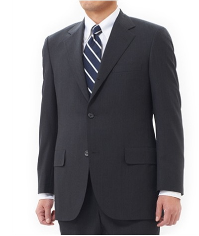 Madison Sack Suit in Tropical Wool Charcoal Grey