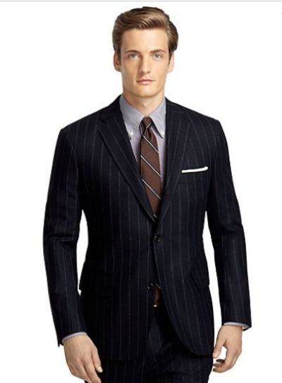 Own Make 101 Wide Chalk Stripe Flannel Suit
