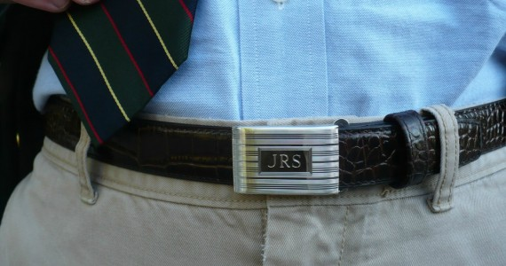 Dress Belt: Engine-turned buckle & Strap